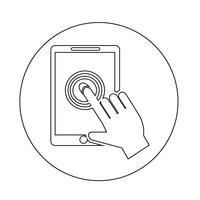 Smartphone pekskärm ikon