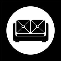 möbel soffa ikon vektor