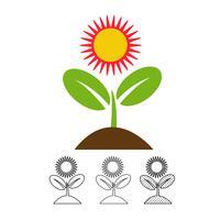 Pflanze Symbol Vektor