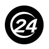 24 Stunden-Symbol vektor