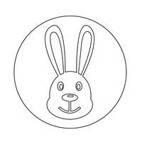 Häschen-Symbol vektor