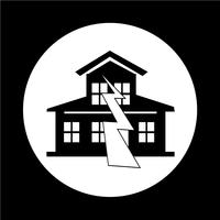 Erdbeben-Symbol vektor