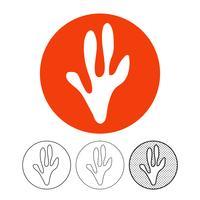 Tierische Fußabdruck Symbol Vektor
