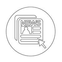 Zeitungssymbol vektor