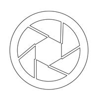 Blenden-Symbol vektor