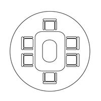 Konferenz Business-Tisch-Symbol vektor