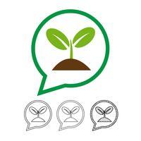 Växt träd ikon vektor