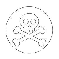 Schädelknochen-Symbol
