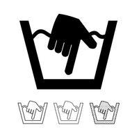 tvätt symbol ikon vektor