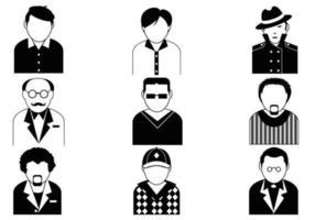 Manliga avatar vektor pack