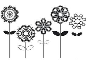 Abstrakt Flower Vector Pack