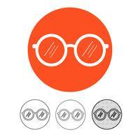 Brille-Symbol Vektor