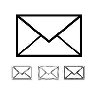 E-Mail-Mail-Symbol Vektor