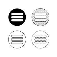 Menü Icons Vektor