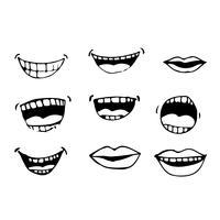 tecknad munnen ikon vektor