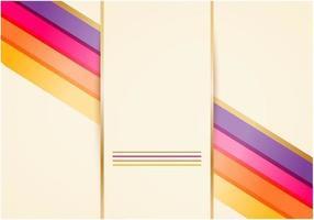 Gyllene tapet vektorer med ljusa linjer