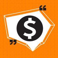 Dollarzeichen Geld-Symbol vektor