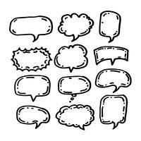 Sprechblasen-Symbol Hand gezeichnet vektor