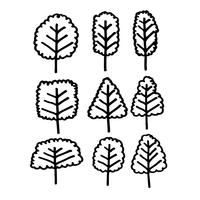 Hand gezeichnete Baum-Symbol vektor
