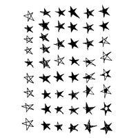 Hand gezeichnetes Sternikone Gekritzel