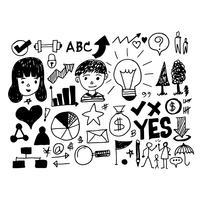 Hand zeichnen Geschäft Kritzeleien Symbol vektor