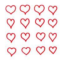 Herz Icon Design Hand zeichnen
