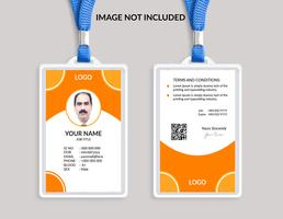 Gul Awesome ID-kortmall vektor