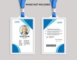 Blå Awesome ID-kortmall vektor