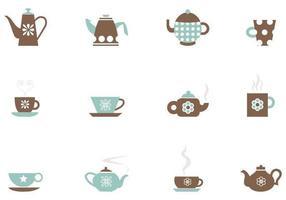Te och kaffe vektorpack
