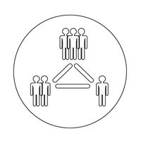 Menschen-Netzwerk-Symbol vektor