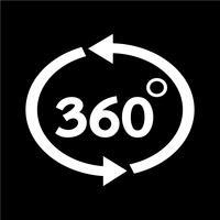 360 graders ikon