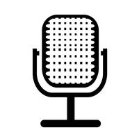 Tecken på mikrofonikonen vektor