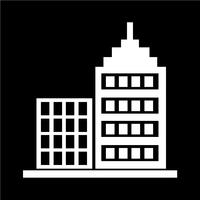 Zeichen des Gebäudes Symbol vektor