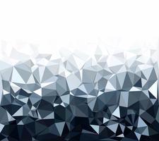 Gray White Polygonal Background, kreative Design-Schablonen vektor