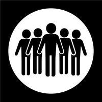 Zeichen der Leute-Ikone vektor