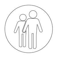 Ikon för tecken på personer