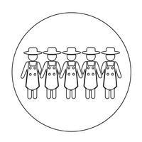 Zeichen der Bauer-Symbol vektor