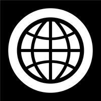 tecken på jordklotikonen
