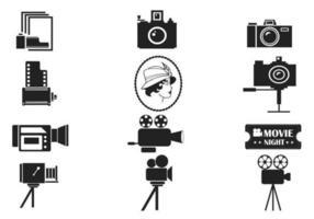 Weinlese-Fotografie-vektor-Satz
