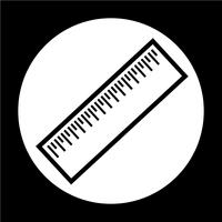 Zeichen des Lineal-Symbols vektor