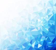 Blauer polygonaler Mosaik-Hintergrund, kreative Design-Schablonen vektor