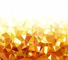 Gelber polygonaler Mosaik-Hintergrund, kreative Design-Schablonen vektor