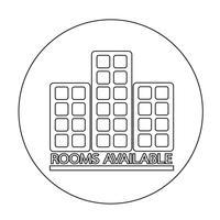 Rum tillgängligt ikon vektor