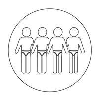 Baddräktsfolkens ikon vektor