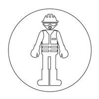 Arbeiter People Icon vektor
