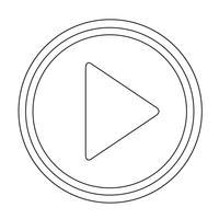 Spela-knappikon vektor