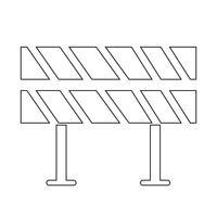 Straßensperre-Symbol