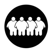 Fette Leute-Ikone vektor