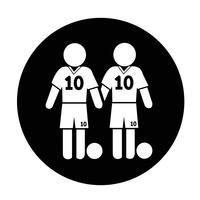 Fotbollsspelare Ikon