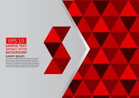 Vector modernes Design eps10 des abstrakten geometrischen roten Hintergrundes mit Kopienraum